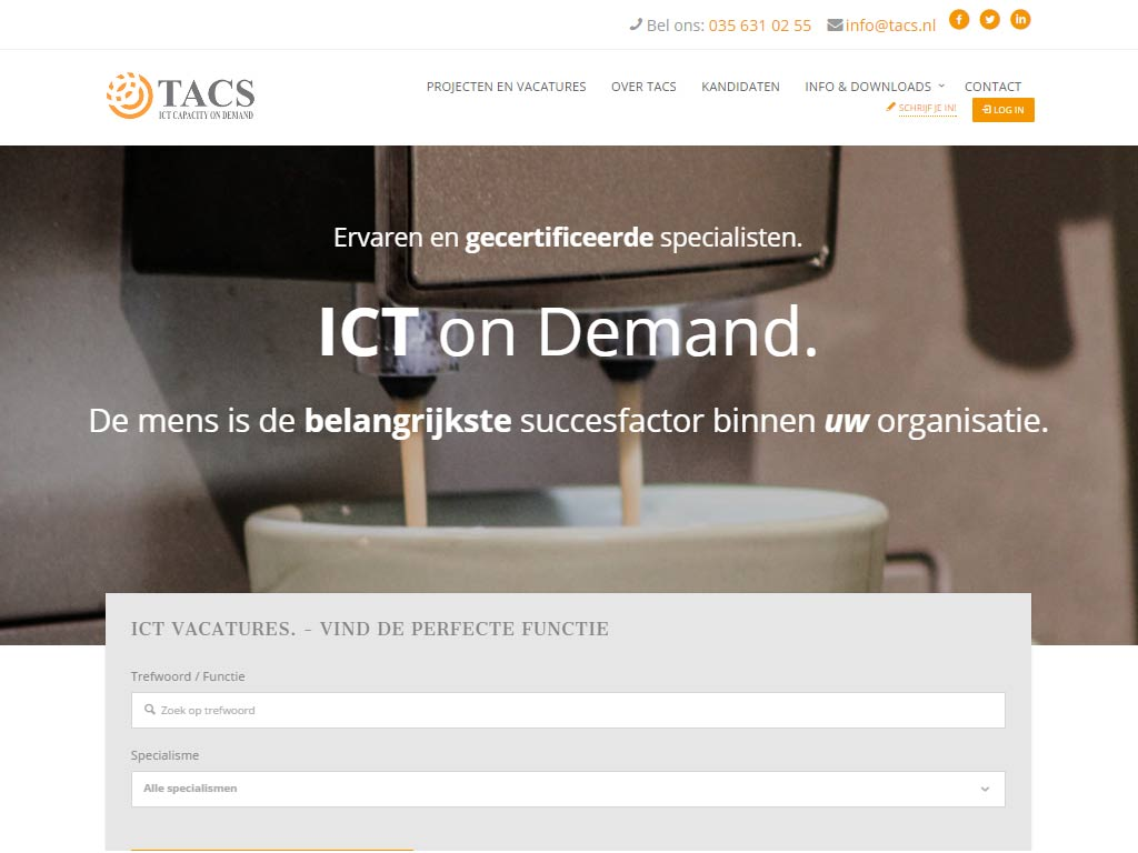 TACS – ICT CAPACITY ON DEMAND